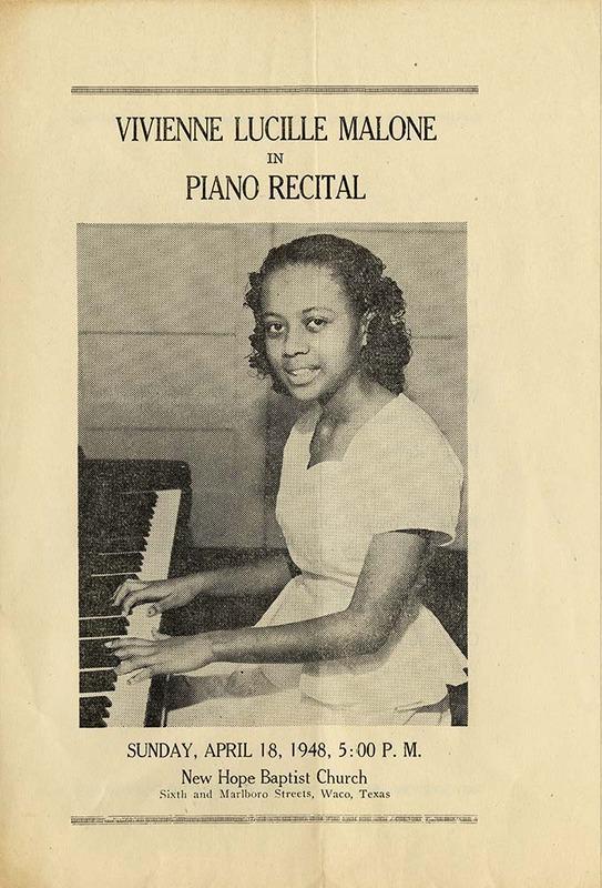 Piano Recital Program (1948)